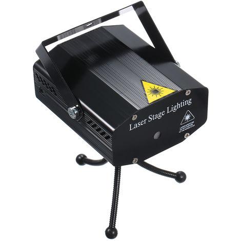 Luz LED para escenario con laser, con tripode, 6 patrones, CA 110-240V