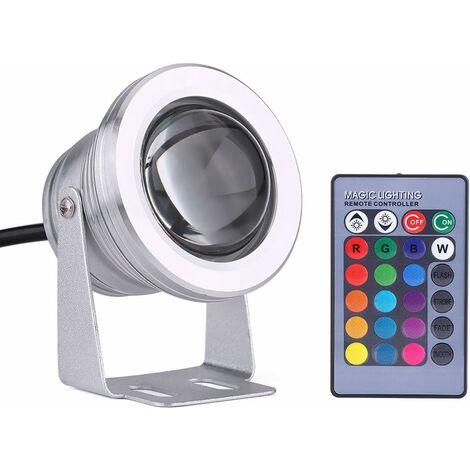 "main image of ""Luz LED para exteriores , barco marino, yate, IP65, 10 W, 12 V, RGB, foco LED para lluvia con control remoto"""