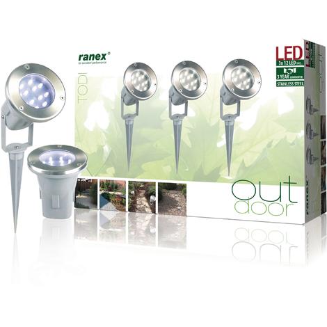 Luz led para suelo Ranex de 120 lm y 21.6W NE55819032
