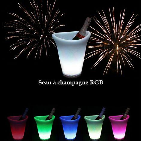 Luz LED RGB de cubo de champán