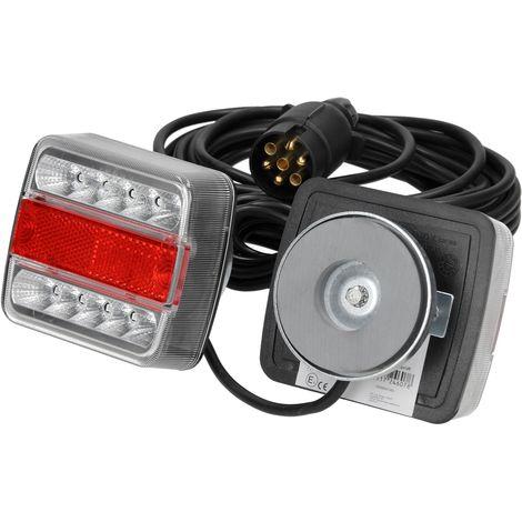 Luz LED trasera remolque mágnetica 7,5 m camión 12V 7 pines indicador lámpara