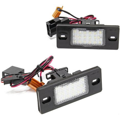Luz matrícula Iluminación LED placa matrícula Set 2 lámparas para varios modelos de coches