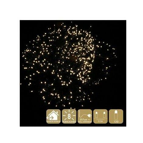 Luz Navidad 8 Funciones Best Products Calido Led 120 Luces