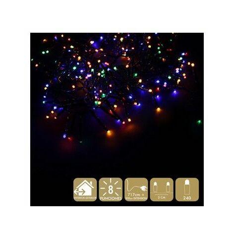 Luz Navidad 8 Funciones Best Products Multic Led 240 Luces