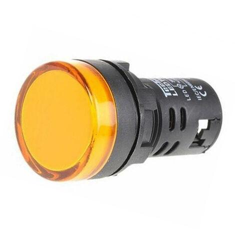 Luz piloto LED de 22 mm para paneles de control 230 VAC Amarillo