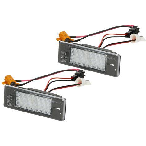 Luz placa matrícula LED 2 piezas Peugeot 106 1007 Citroen Berlingo C2 Pluriel C4