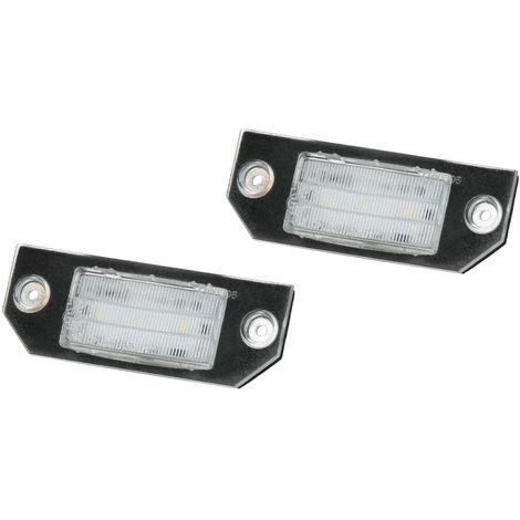 Luz placa matrícula LED set 2 piezas Ford C-Max DM2 Focus MK II bombillas número