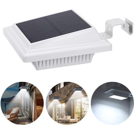 Luz solar de la pared de la calle, lampara de la noche, sensor de iluminacion,Blanco