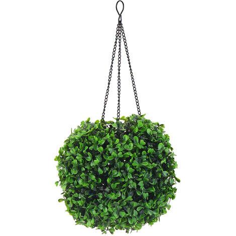 Luz solar decorativa LED Bola de hierba falsa Blanco cálido 20x20cm Decoración de mesa interior al aire libre Jardín