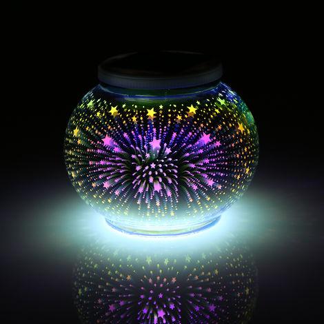 Luz solar que cambia de color, lampara de bola de cristal, para jardin,Decoracion de fiesta de Navidad