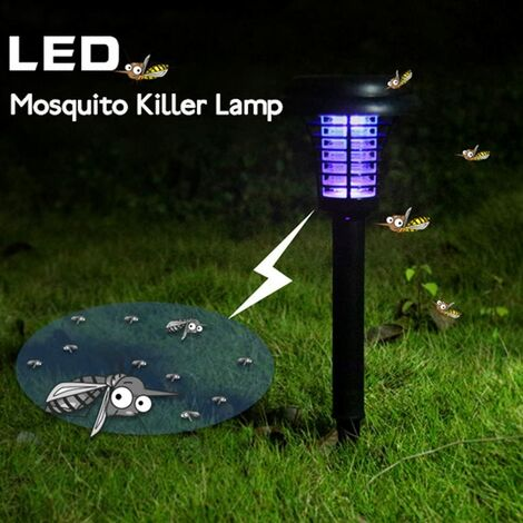 Luz solar - Repelente de insectos / mosquitos, solar, lámpara de exterior - para colgar o plantar en el suelo - 1 pieza