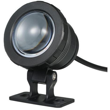 Luz subacuatica LED, con control remoto, 16 colores, AC85-265V 10W RGB, negro