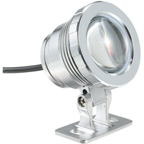 Luz subacuatica LED RGB,Lampara sumergible,con control remoto, AC85-265V 10W,PLATA