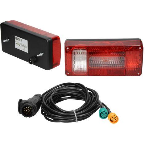 Luz trasera bombillas con cable para caravana remolque 6 funciones 12V universal