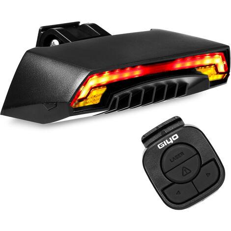 Luz trasera de bicicleta inteligente con senales de giro Control remoto inalambrico Luz trasera de bicicleta Ciclismo USB Luz trasera de advertencia de seguridad recargable