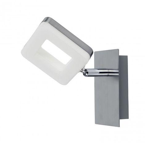 LuzConLed - Aplique 1 Luz LED cuadrado 6W 4000K Níquel - Envío Desde España