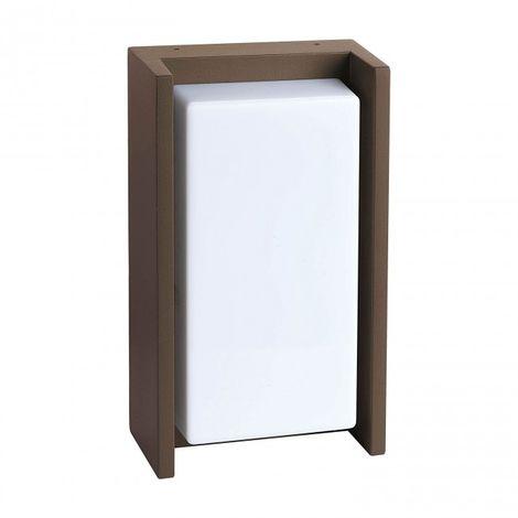 LuzConLed - Aplique Exterior LED 12W Aluminio marrón óxido - Envío Desde España