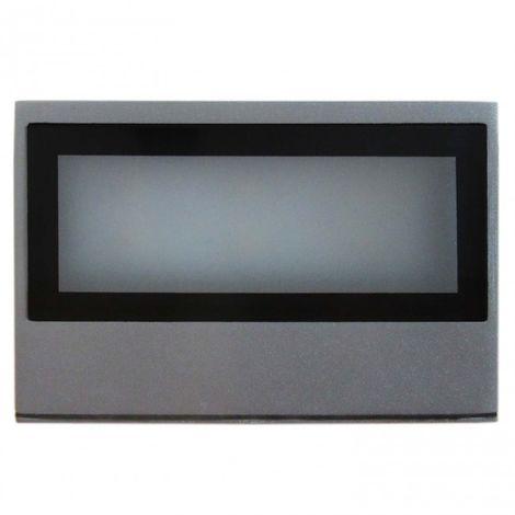 LuzConLed - Aplique jardín exterior LED 8W 4000K color plata - Envío Desde España