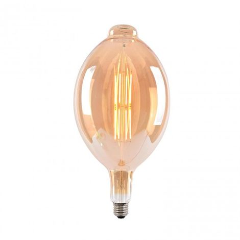 LuzConLed - Bombilla DecoLed 8W BT180 cristal ambar 2700k - Envío Desde España