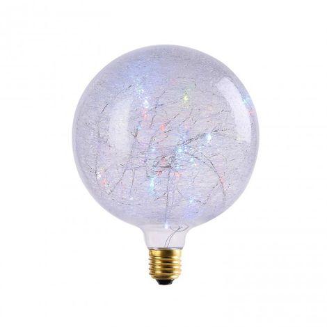 LuzConLed - Bombilla decorativa Globo LED 2W G150 RGB - Envío Desde España