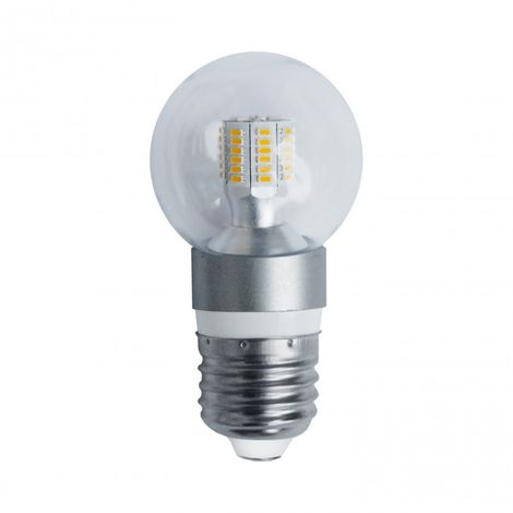 LuzConLed - Bombilla esfera LED E27 5W 3000K - Envío Desde España