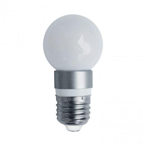 LuzConLed - Bombilla esfera mate LED E27 5W 4000K - Envío Desde España