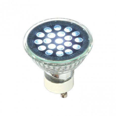LuzConLed - Bombilla GU10  LED 1W colores - ENVÍO DESDE ESPAÑA