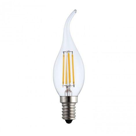 LuzConLed - Bombilla Led filamento vela decorativa E14 6W 2700K - Envío Desde España