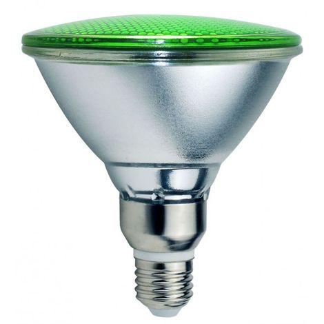LuzConLed - Bombilla PAR38 LED 18W Luz Verde - Envío Desde España