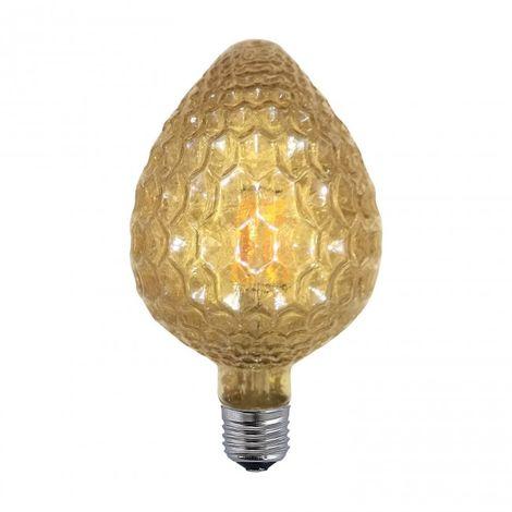 LuzConLed - Bombilla regulable decorativa ámbar cono de pino LED E27 6W 2300k - Envío Desde España