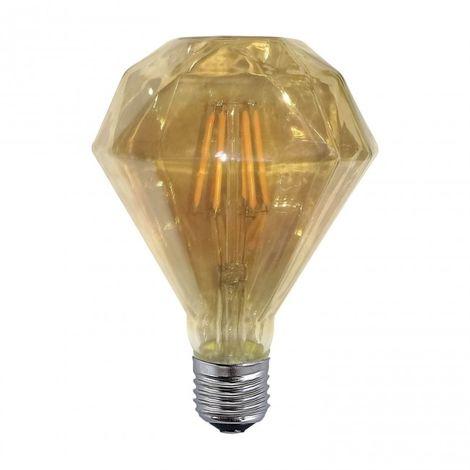 LuzConLed - Bombilla regulable decorativa ámbar LED 6W 2300k - Envío Desde España