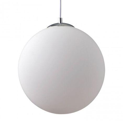 LuzConLed - Colgante cristal opal blanco E27 Bola Ø 25 cm - Envío Desde España
