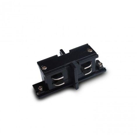 LuzConLed - Conector empalme lineal carril trifasico color negro - Envío Desde España