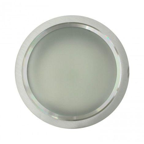 LuzConLed - Downlight 2 x 26W PLC O G24 Circular Aluminio cepillado - Envío Desde España