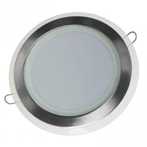 LuzConLed - Downlight cristal Deco circular LED 20W niquel 4000K - Envío Desde España