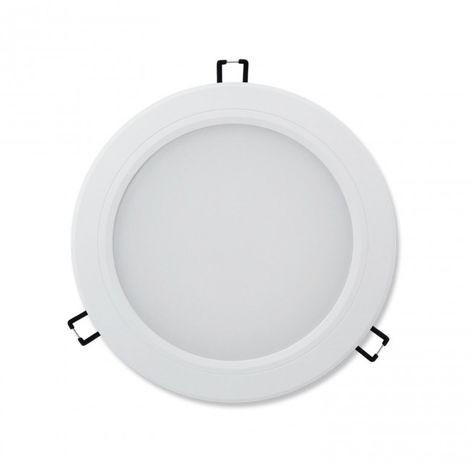 LuzConLed - Downlight LED 18W 3000K Circular Aluminio blanco mate - Envío Desde España