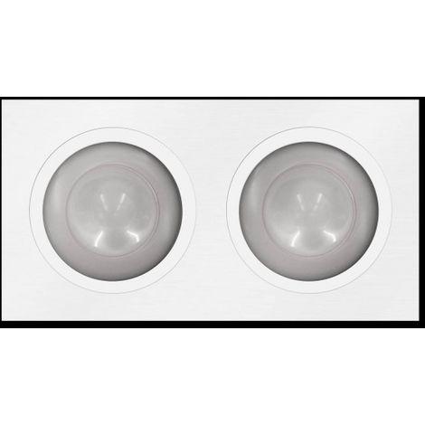 LuzConLed - Downlight rectangular LED 2 Focos 3 x 3W Aluminio blanco - Envío Desde España