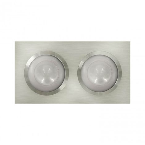LuzConLed - Downlight rectangular LED 2 Focos 3 x 3W Aluminio - Envío Desde España