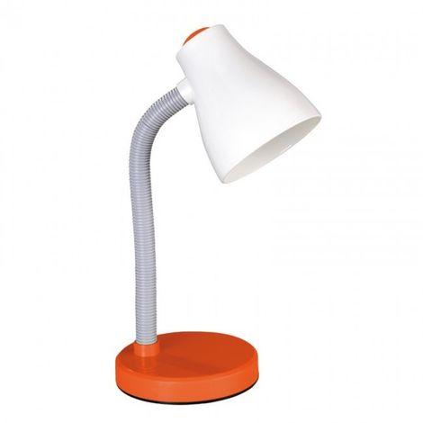 LuzConLed - Flexo brazo flexible 1*E27 max. 40W color blanco y naranja - Envío Desde España