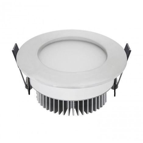 LuzConLed - Ojo de Buey LED 5W 3000K Circular Aluminio blanco mate - Envío Desde España