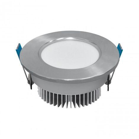 LuzConLed - Ojo de Buey LED 5W 6000K Circular Aluminio plata - Envío Desde España
