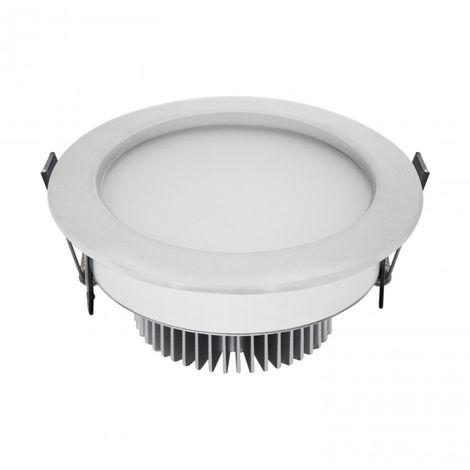 LuzConLed - Ojo de Buey LED 7W 3000K Circular Aluminio blanco mate - Envío Desde España