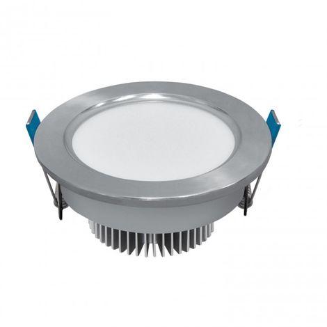 LuzConLed - Ojo de Buey LED 7W 6000K Circular Aluminio plata - Envío Desde España