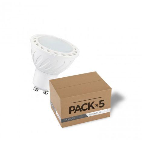 LuzConLed - Pack 5 bombillas LED GU10 4W 4000K - Envío Desde España