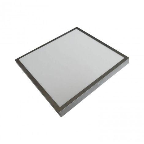 LuzConLed - Plafón LED 60x60 48W Luz regulable cuadrado color plata - Envío Desde España