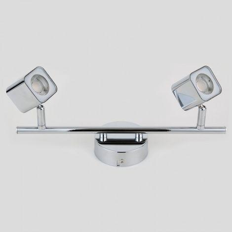 LuzConLed - Regleta Led Cubo 2 luz 8W Acabado níquel 4000k - Envío Desde España