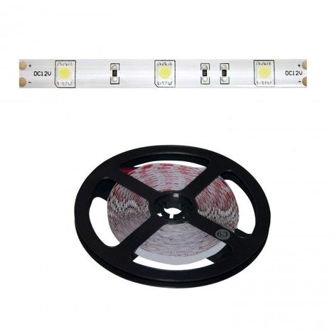 LuzConLed - Tira LED 12V DC 5 metros 8W por metro  luz blanca - ENVÍO DESDE ESPAÑA