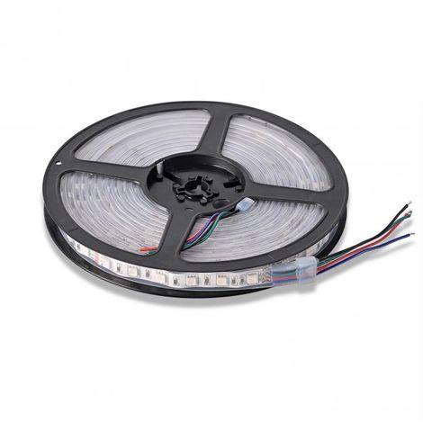 LuzConLed - Tira LED 5M 24V DC 15W por metro IP65 color RGB - Envío Desde España