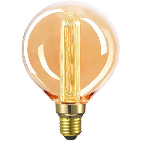 LÚZETE - BOMBILLA LED FILAMENTO G125 E27 4W 2000K Ø12,5 CM