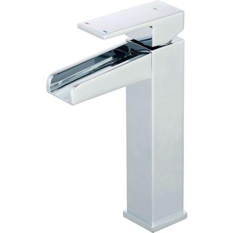 Luzz mitigeur lavabo haut chromé - Chromé